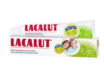 Lacalut KIDS 4-8  Dečija zubna pasta i četkica